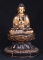 Very special Japanese Amida Buddha statue from Japan made from Wood