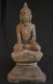 Antique Buddha statue from Burma made from lacquer