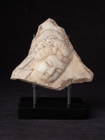 Old marble plate of Guan Yin head from China made from Marble