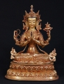 Copper Chengresi statue from Nepal made from Bronze
