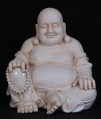Old porcelain Happy Buddha statue from China made from Porcelain