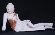 Old reclining Buddha statue from Burma made from Marble