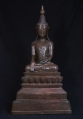 Large antique Shan Buddha statue from Burma made from Bronze
