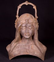Old bronze woman head from Burma made from Bronze