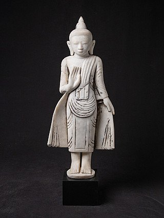 Old marble Burmese Buddha statue