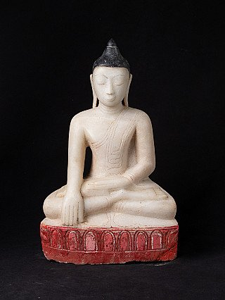 Antique marble Ava Buddha statue