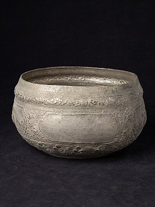 Antique silver plated offering bowl