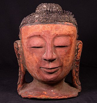 Antique Burmese Buddha head