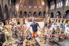 Moving our Buddha statues to an old Church building